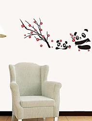 stickers muraux autocollants de mur, mur panda pvc style belle chinois autocollants
