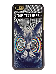 Personalized Case Cat Design Metal Case for iPhone 5C