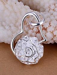 ciondolo in argento piastra femminile SSMN