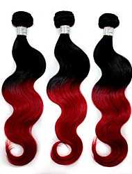 """Top Quality 100g/Pack Brazilian Body Wave Human Hair Extension 1B/Red Ombre  Hair Weave 12""""-24"""""""