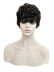 Capless Short Curly Heat Resistant Synthetic Wig