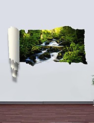 3D Wall Stickers Wall Decals, Quiet Streams Decor Vinyl Wall Stickers