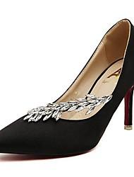 Scarpe Donna - Scarpe col tacco - Formale - Tacchi / A punta - A stiletto - Raso - Nero / Rosa