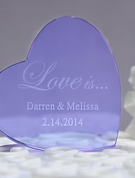 Cake Topper Personalized Crystal Wedding / Anniversary Gift Box