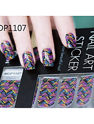 Arte 14PCS doces da cor dos desenhos animados adesivos de unhas No.1107 série MDP