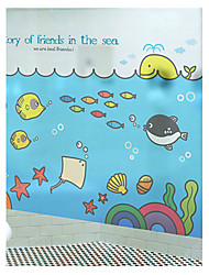 """60 * 80cm (24 """"w * 31"""" l) statiques des grilles de films dans la chambre des enfants de l'ami mer soleil"""