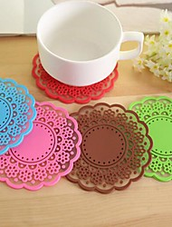 Lace Coaster Cup Mat Pad for Bowl Mug Glass Plate Wedding Return Gift(Random Color)