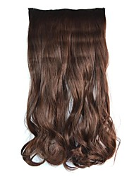Clip Wave Hairpieces Synthetic Extensions (Brown Black)