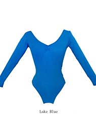 Ballet Leotards Women's Cotton Ballet Condole Belt Practice Leotards with Long Sleeves