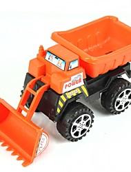 Hand Push Mini Bulldozer - Orange + Black
