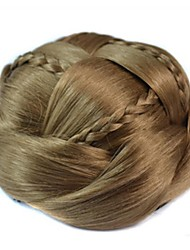 Vintage Coil Bun Chignon Wig (Light Brown)