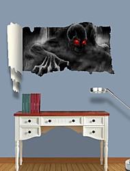 Adesivos de parede adesivos de parede 3d, fantasmas de terror de parede decoração adesivos de vinil