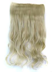 clipe onda peruca extensão sintética bege