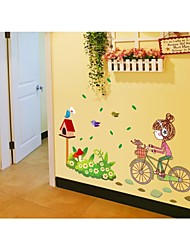 Wall Stickers Wall Decals, Style Cartoon Girl PVC Wall Stickers
