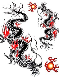 1PC Large Temporary Tattoos Flying Dragon Pattern Wedding Party Tattoos Fake Tattoos for Body Art(31*21.5CM)