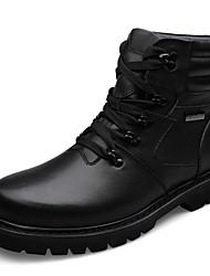 Sapatos Masculinos Botas Preto Couro Ar-Livre