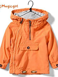 Boy's Spring Autumn Hooded Jacket Windbreak (Cotton)