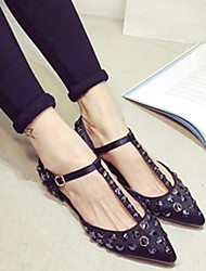 Women's Shoes Pointed Toe Flat Heel Satin Flats Shoes More Colors available