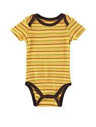 Boy's  Cotton Yellow  Streak Short Sleeve Baby Romper