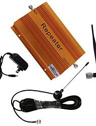 cdma980 850MHz amplificador booster de sinal de telefone celular repetidor com chicote e otário antenas cobertura 2000m² ganho de 70db