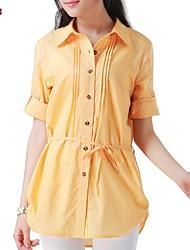 Women's Orange Shirt ½ Length Sleeve