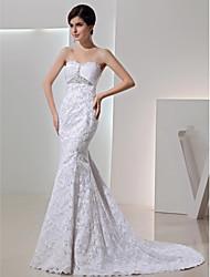 Vestido de Boda - Blanco Corte Sirena Hasta el Suelo - Sweetheart Encaje