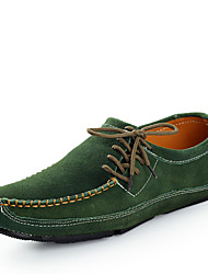 Men's Shoes Casual/Office & Career/Drive Fashion Loafers Slip-on Leather Shoes Black/Bule/Green