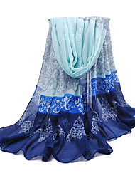 Women's blue Elegant Wind Day Sunblock Paris Yarn  Scarf