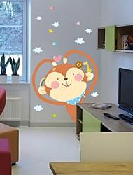 parede adesivos de parede decalques, desenhos animados engraçados pvc macaco adesivos de parede