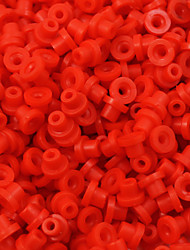 ITATOO™ 100pcs Red Tattoo Grommets Rubber Tattoo Nipples for Tattoo Needles