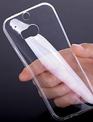 Для Кейс для HTC Ультратонкий / Прозрачный Кейс для Задняя крышка Кейс для Один цвет Мягкий TPU HTC