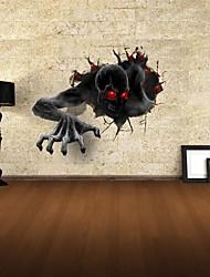 3d stickers muraux stickers muraux, le diable décoration vinyle stickers muraux