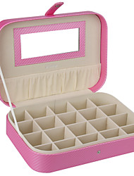 Gifts Bridesmaid Wedding Faux Leather Promotion Jewelry Box Case Beads Ring Organizer Travel Case