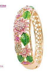 Lady's Alloy/Party/ Neoglory Spring Series Jewelry Bracelet Bangle with Sun flower Leaves and Austrian Rhinestone