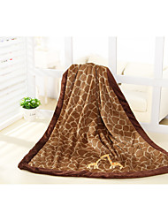 Coffee Deerlet 100% Polyester Velboa Baby Blanket/Throw 76*110cm  Cozy, Soft And Stay Warm