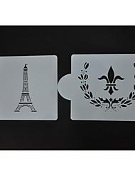 stencils biscoito doces e decoração de chocolate, bolo de stencils pulverização decoração st-422
