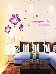 romántico lirio morado de / etiqueta de la pared salón dormitorio