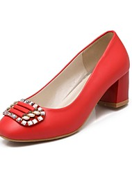 Women's Shoes Chunky Heel Round Toe Pumps Shoes with Sparkling Glitter More Colors available