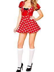 Costumes de Cosplay / Costume de Soirée Animal Fête / Célébration Déguisement Halloween Rouge Points Polka Robe / CasqueHalloween / Noël