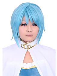Parti perruque - Bleu - Droit - en Fibre synthétique  - pour Femme