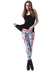 moda chile colorido delgado leggings congelados de skymoto®women