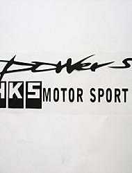 autocollants de voiture avec hks voiture de sport style
