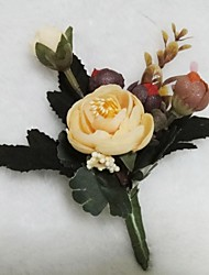 Wedding Flowers Free-form Roses/Peonies Boutonnieres