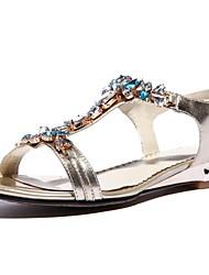 Women's Shoes Suede Wedge Heel Comfort Sandals Casual Gold