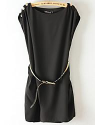 Robes ( Mousseline ) Informel Rond à Sans manche