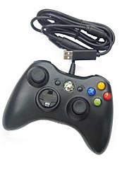 Проводной контроллер USB для ПК&Xbox 360 (черный-белый)