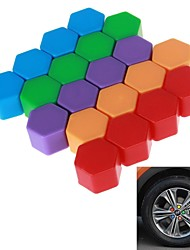 19# Hexagonal Nut Silicon Material Design Car Wheel Hub Screw Decoration Cover (20PCS/20mm)