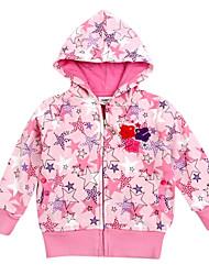 jassen meisje met een kap van bloemen borduurwerk winter kleding met lange mouwen antumn kinderen jassen willekeurige afdruk