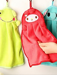 Cartoon Animal Hanging Water Absorption Bathing/Kitchen Towel (Random Color)