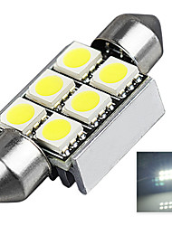 2.9W 12V 7000-8000K 36MM-5050-6SMD C5W with Radiator Canbus License Plate And Tail Box Lighting LED Light for Car